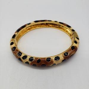 KJL Leopard print enamel bracelet 2006